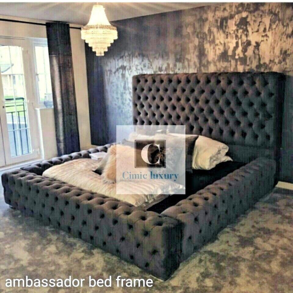 Ambassador Windermere Chesterfield Bed Frame Double Velvet