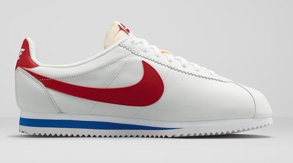 NIKE Classic Cortez Leather (white/varsity red-vrsty royal) (Nike Limited