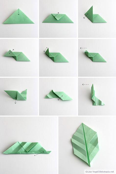 Origami bl tter for Kindergottesdienst herbst