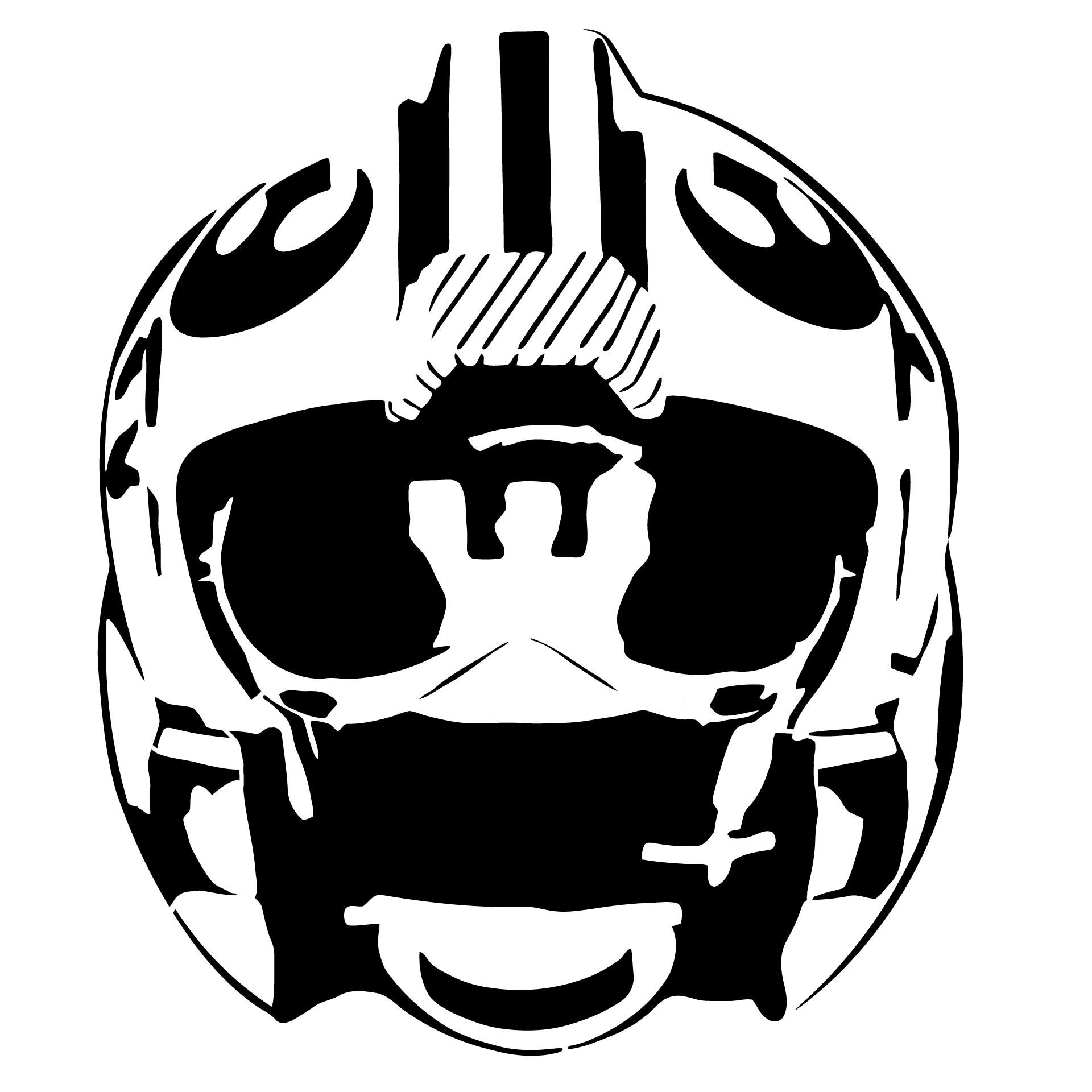 Alliance fighter pilot helmet stencil template Stencil