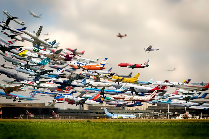 30 second time-lapse of airplanes landing at san diego airport | designboom