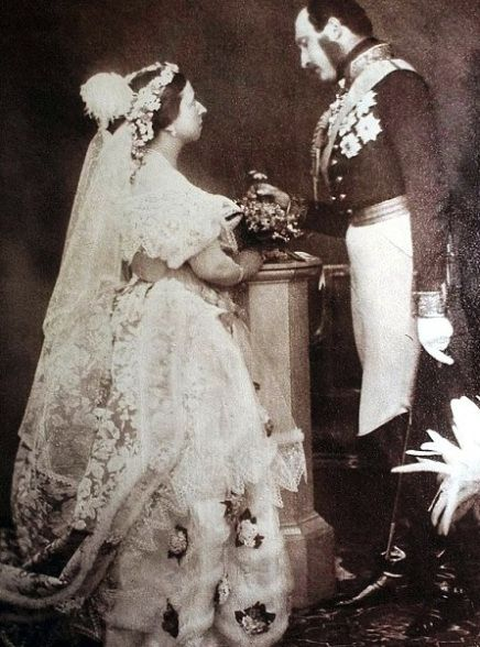 Queen Victoria\'s wedding dress. She started the tradition of wearing ...