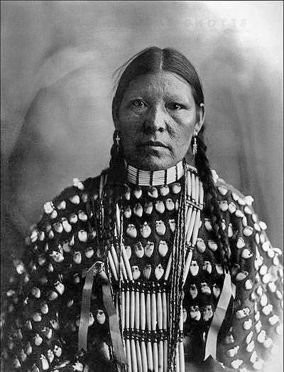 Freckle Face, Arapahoe woman - Photo by Frank A. Rinehart, on the occasion of The Indian Congress occurred in conjunction with the Trans-Mississippi International Exposition of 1898, in Omaha, Nebraska, USA - (Photoshopped)