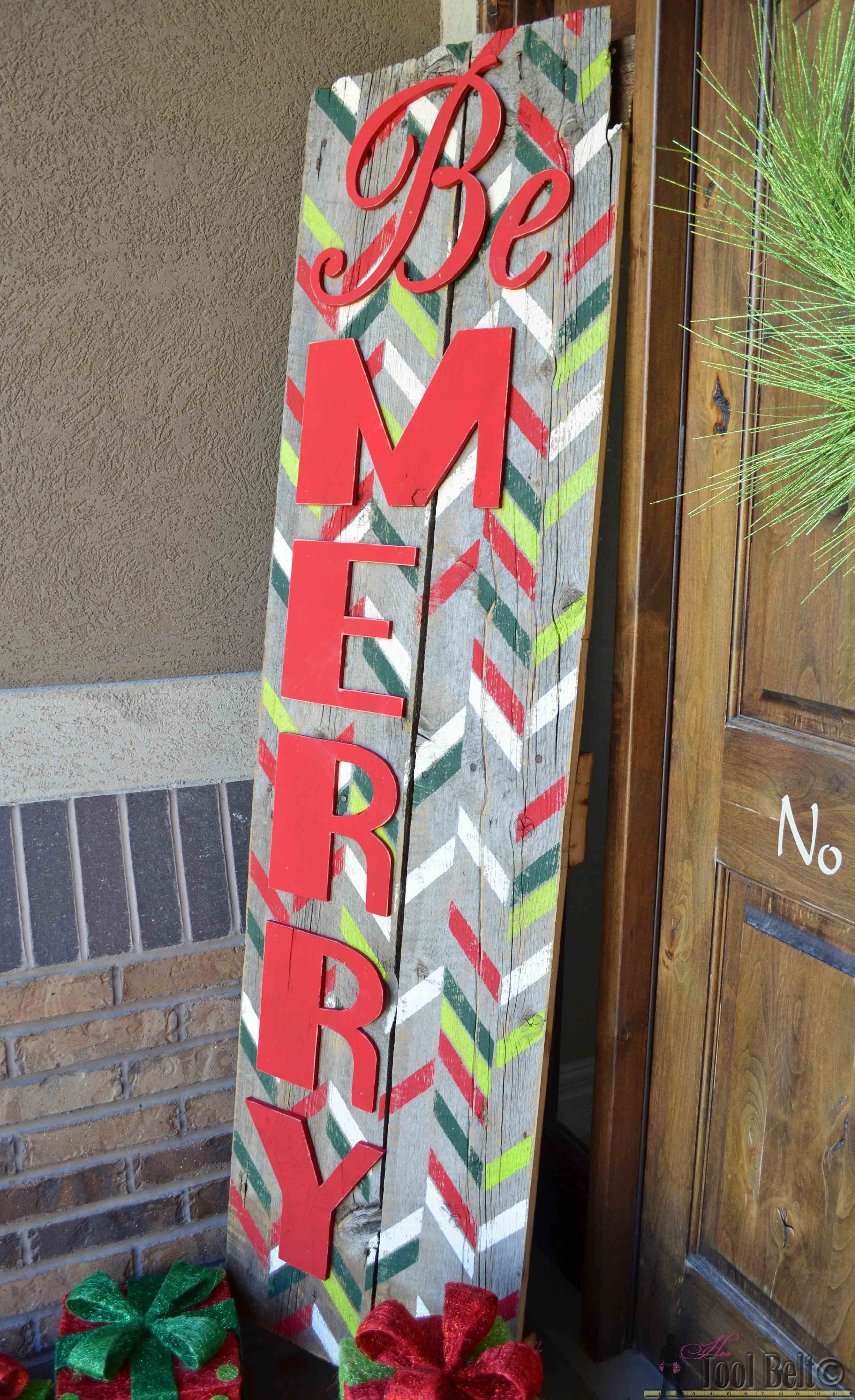 Be Merry Christmas Sign