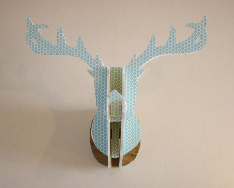 diy cardboard deer head