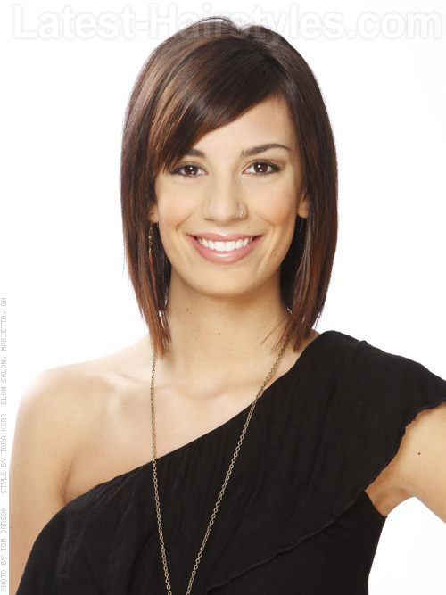 This layered bob removes weight from the hair and frames the face really well.    Read more at http://www.latest-hairstyles.com/trends/oval-faces.html#EzD1SSBfsTvRHh0M.99