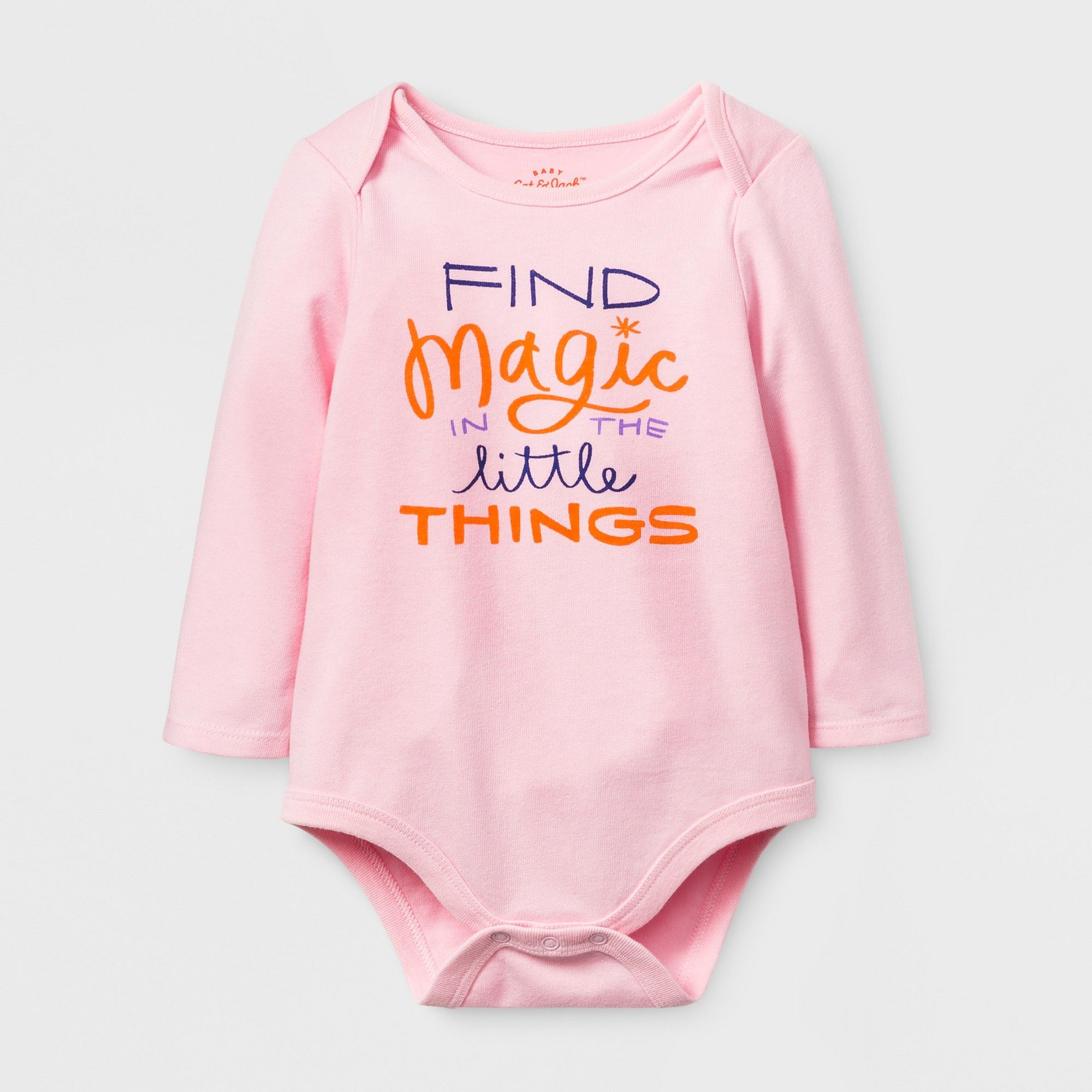 cc9523a7bc02 Baby Girls  Find Magic Bodysuit - Cat   Jack Pink 6-9 M
