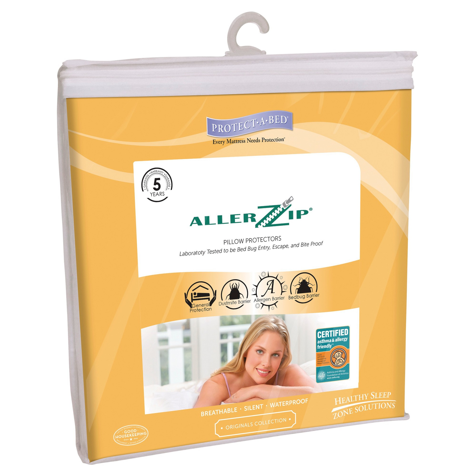 ProtectABed 2pk Allerzip AntiAllergy & Bed Bug Proof