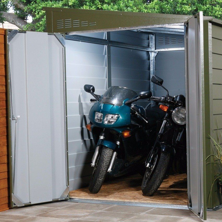 trimetals 6 x 9 ft motorcycle garage kul beler. Black Bedroom Furniture Sets. Home Design Ideas
