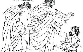 Image result for peter heals a lame man coloring page
