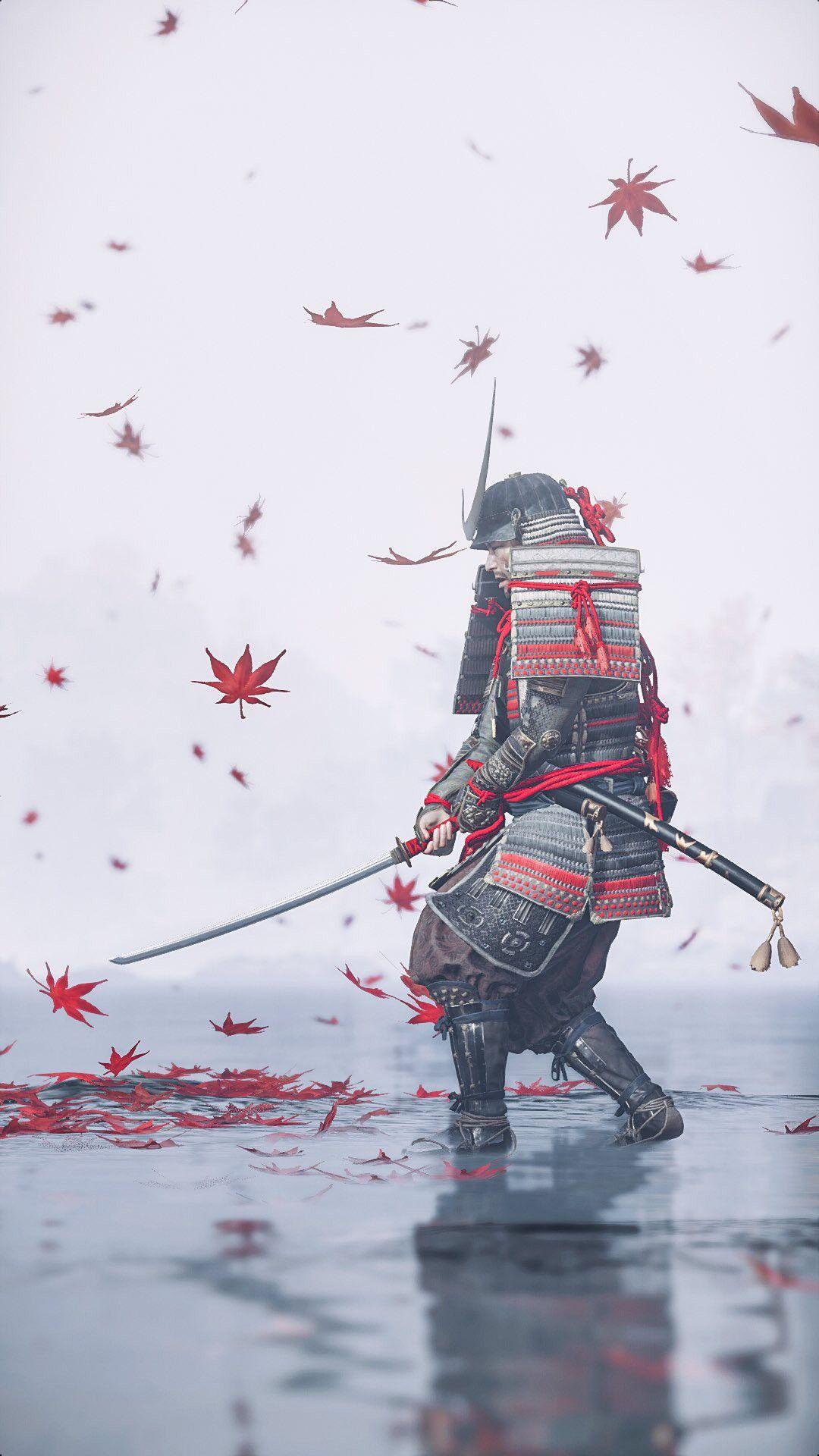 Ghost Of Tsushima Hd Wallpaper Samurai Guerreiro Armadura Samurai Samurai