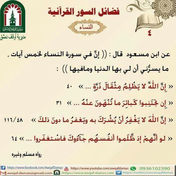 Pin By Khaled Bahnasawy On ٤ سورة النساء Islam Sic