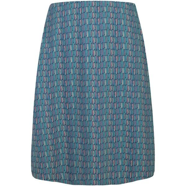 Seasalt Portfolio Reversible A-Line Skirt, Ink Stripes Galley (€77) ❤ liked on Polyvore featuring skirts, print skirt, reversible skirt, below knee skirts, a line skirt and stripe skirt