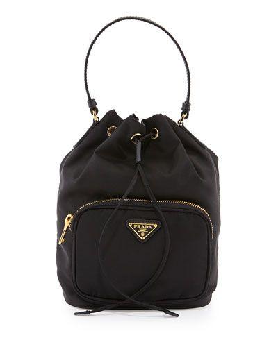 fd3bd8ef1a93 V2BEL Prada Tessuto Mini Bucket Crossbody Bag