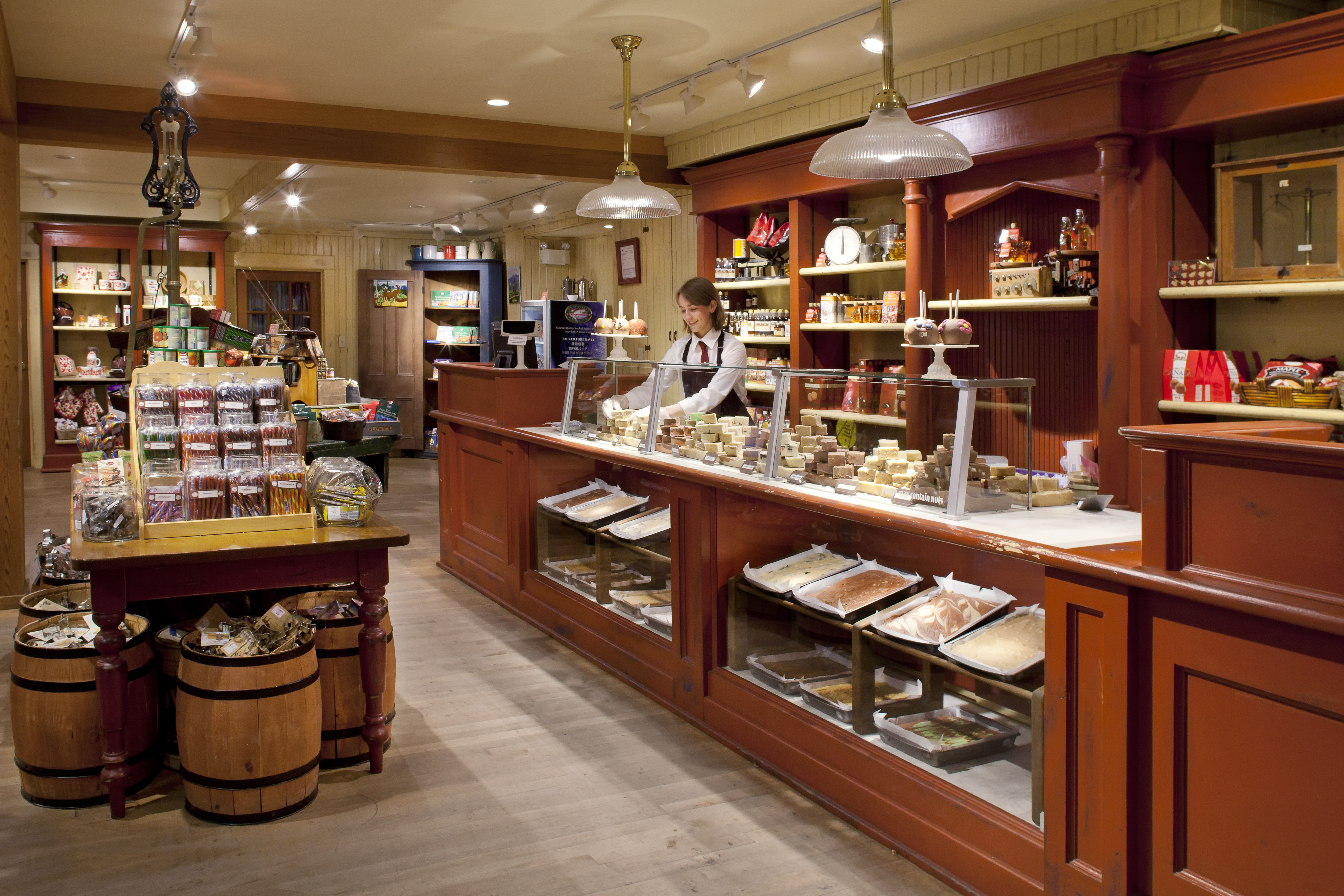 The Fudge Counter Inside The Trading Post Gift Shop
