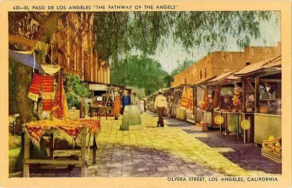 Olvera Street El Paso De Los Angeles California Vintage - El paso california