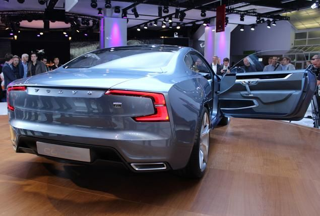 Back of the Volvo Concept Coupe at The Frankfurt Auto Show