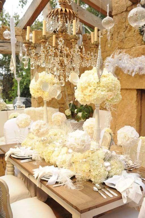 Wedding Decoration Idea Cream Crystal