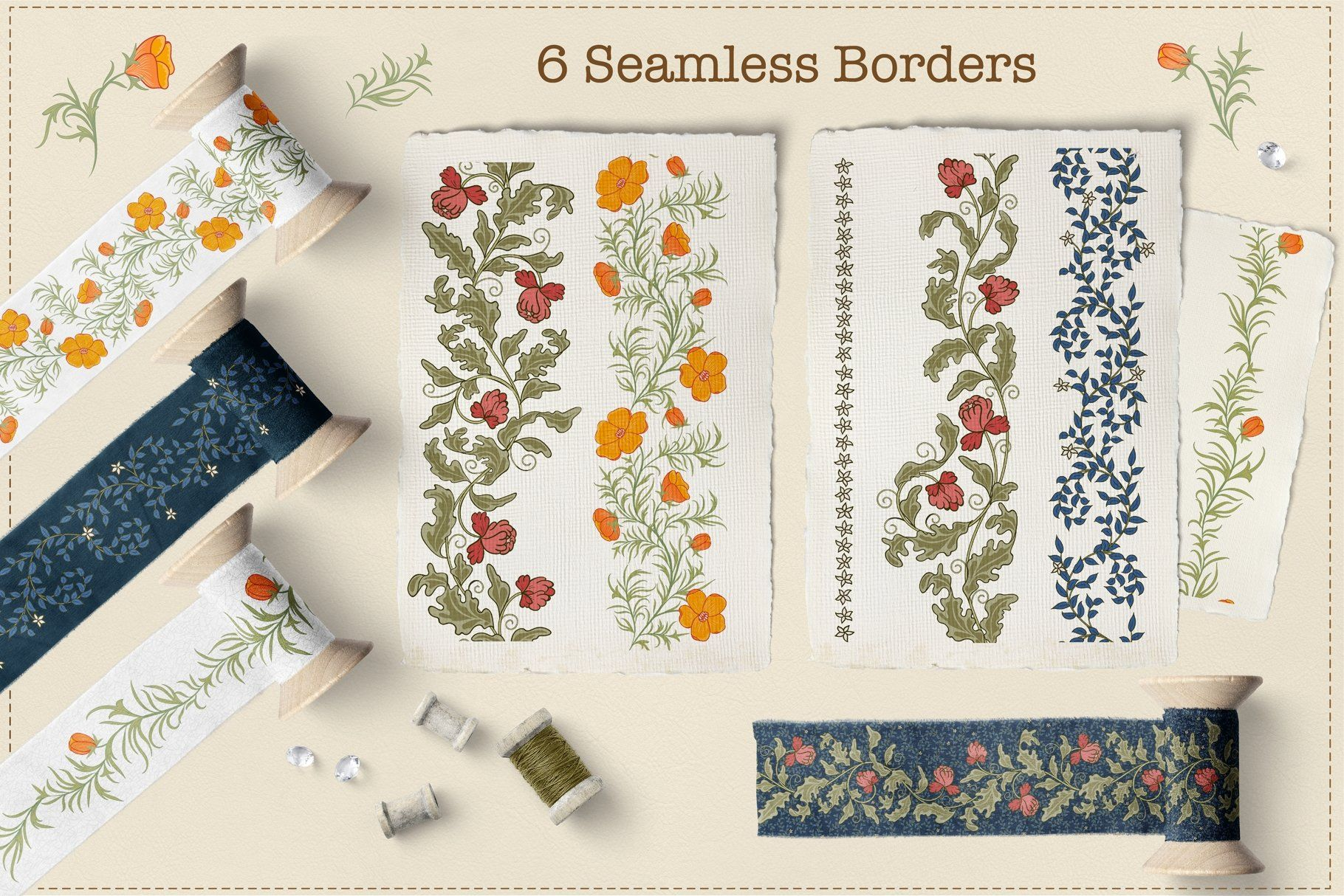 Flower Garden By Irina Skaska On Creativemarket In 2020 Hand Drawn Flowers Printing On Fabric Gift Wrapping Paper