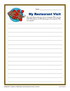 My Restaurant Visit | Visits, Reader and Restaurant
