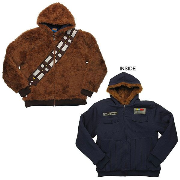 Han SoloChewbacca Reversible Hoodie I Could Say This Is For My - Hoodie will turn you into chewbacca from star wars
