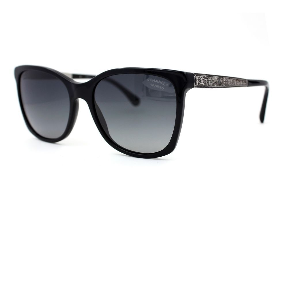 CHANEL Sunglasses Black Frames with Blue Polarized Gradient Lenses ...