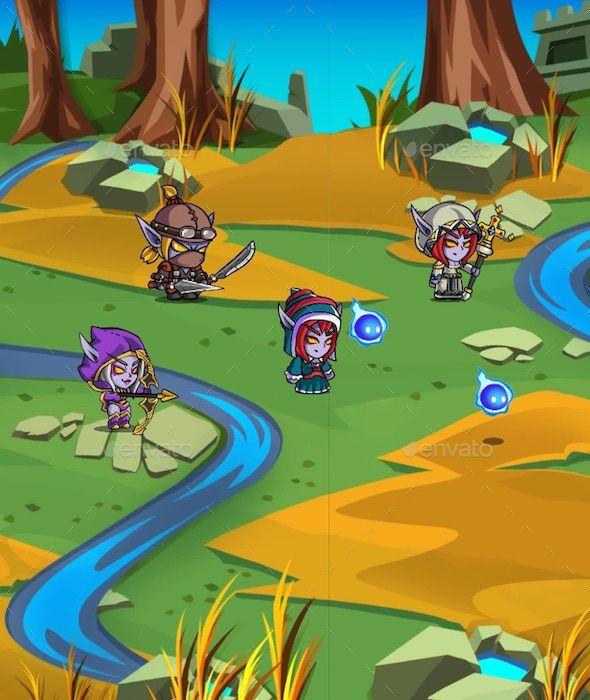 Dark Elf - 2D RPG Creature Pack (Sprites) | Game Assets | 2d