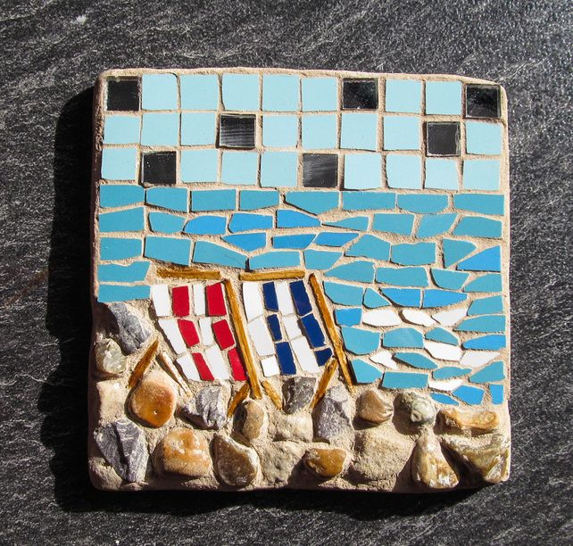 Beach And Seaside Mosaics 111mm Squared Lots Of Designs
