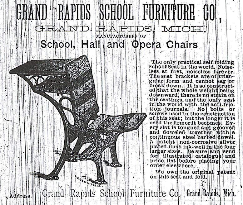 Captivating Grand Rapids School Furniture Company Advertisement.
