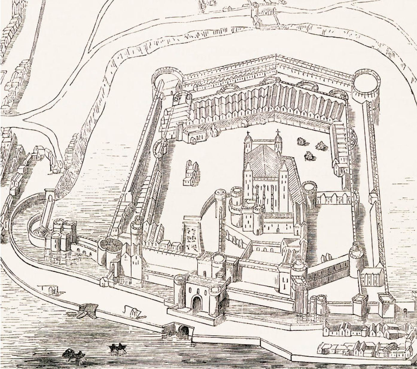 The Norman Castle Stood For Over A Century Before Being