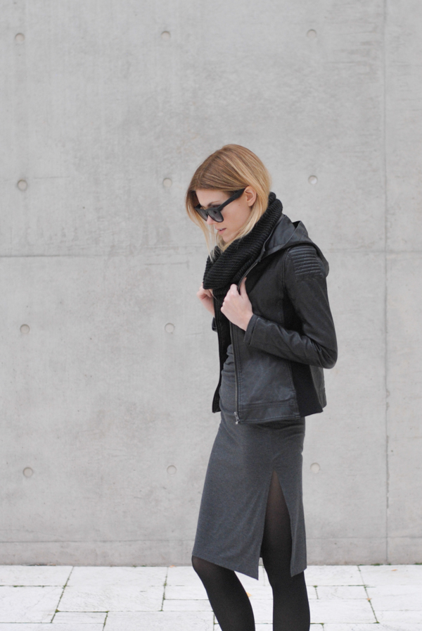 saturday greys. Blair in our Rise Above jacket