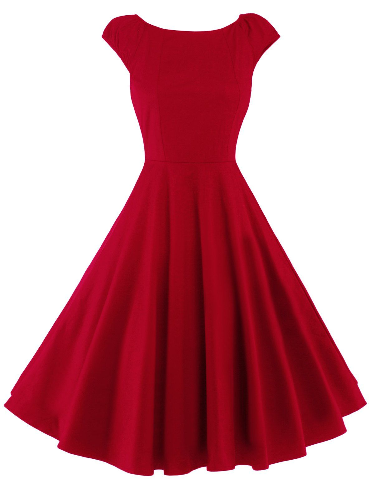 Retro High Waist Fit and Flare Dress
