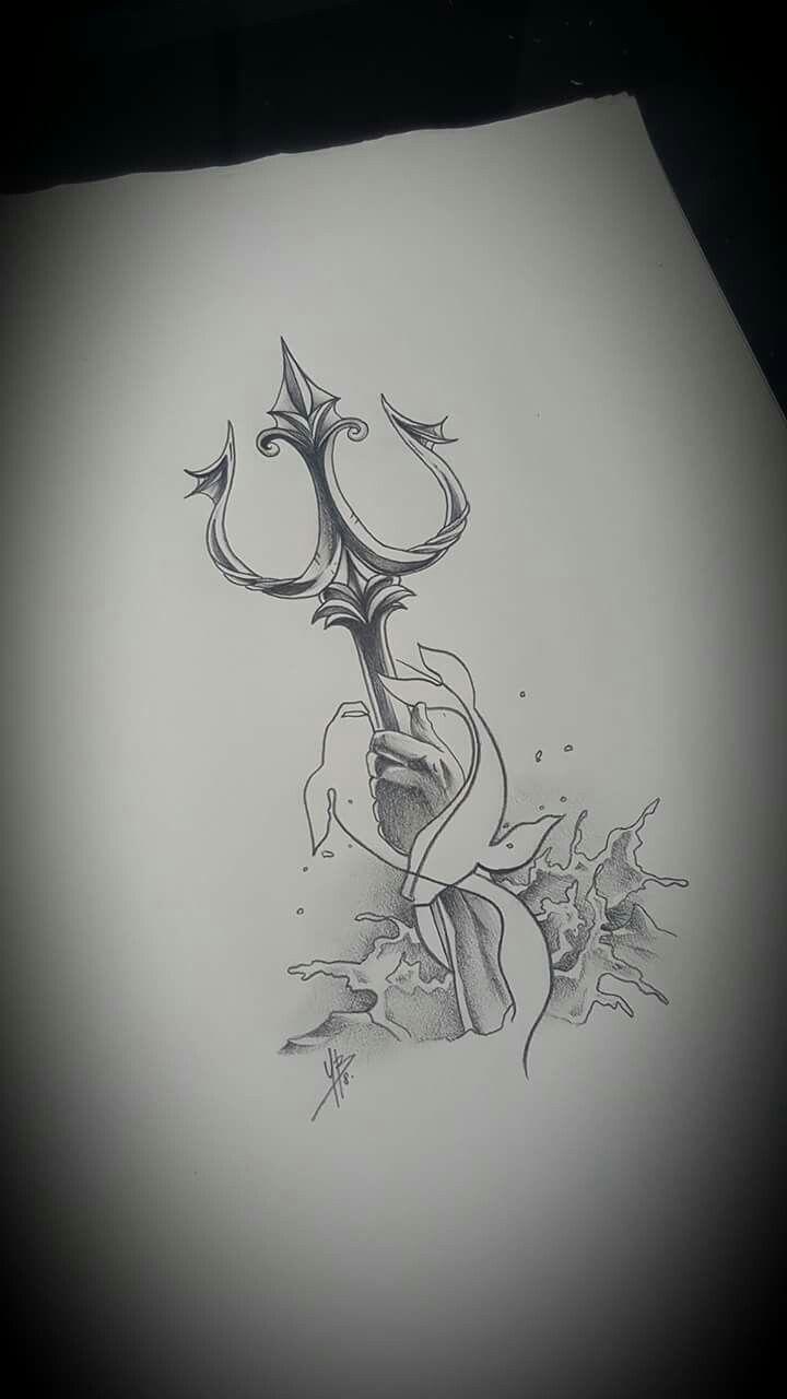 Trident Tattoo Company: Dessin Trident BZH Tattoo