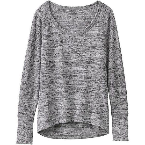 Athleta No Sweatin' It Sharkbite Top found on Polyvore