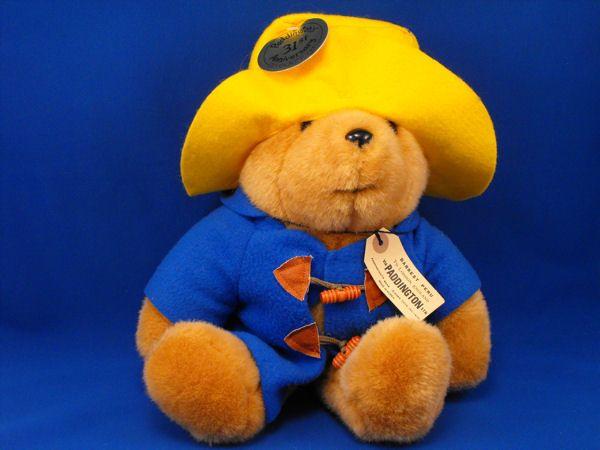 f55a27cf6e3 Eden Brown Paddington Bear Yellow Hat Blue Jacket Plastic Toggle ...