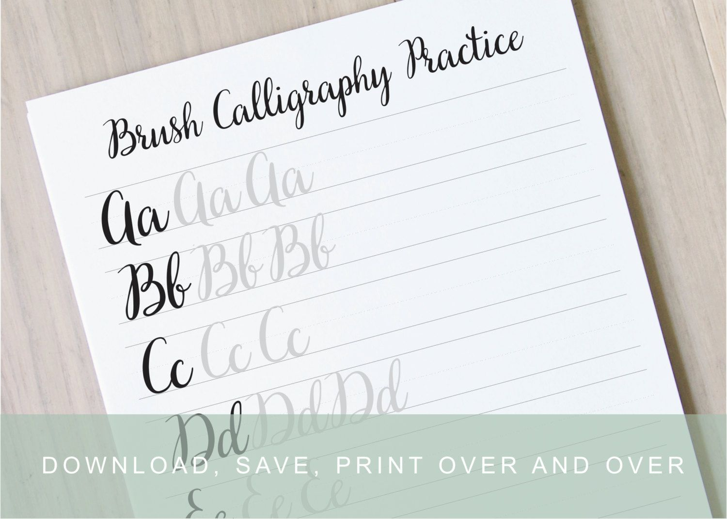 Calligraphy Practice Book, Learn Modern Calligraphy, Learn