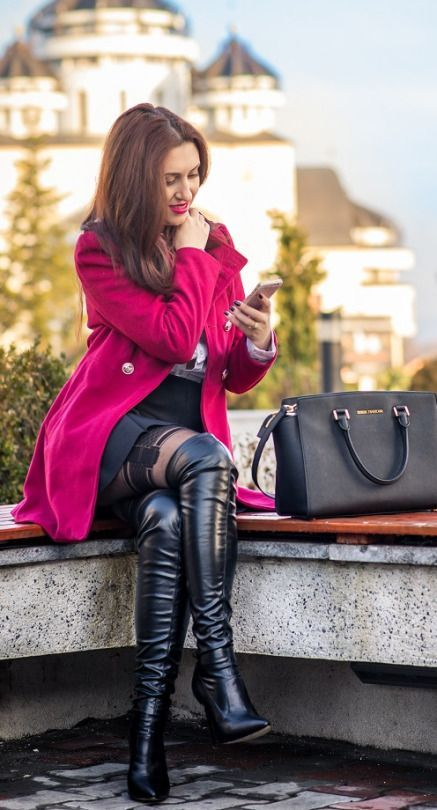 e82958737369 Black OTK boots outfit outdoors