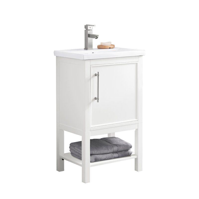 Briaca 20 Single Bathroom Vanity In 2020 Single Bathroom Vanity Bathroom Vanity Base Bathroom Vanities For Sale