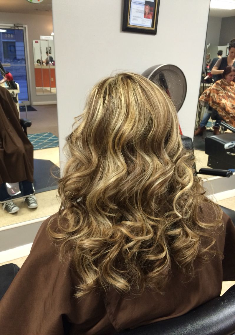 A Medium Brown With All Over Heavy Blonde Highlights Heavy