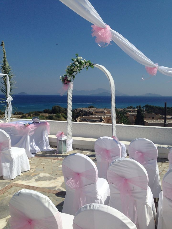 a high-elevation chapel is the perfect setting for your wedding overlooking the sea in Kardamena, Kos. www.weddingsinkos.com