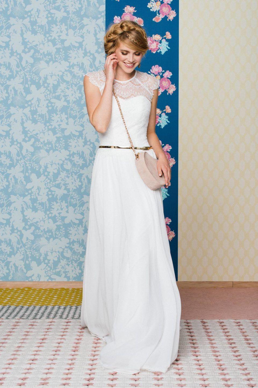 Brautkleid im 20er Jahre Stil – Vintage Traumkleid mit Chiffonrock