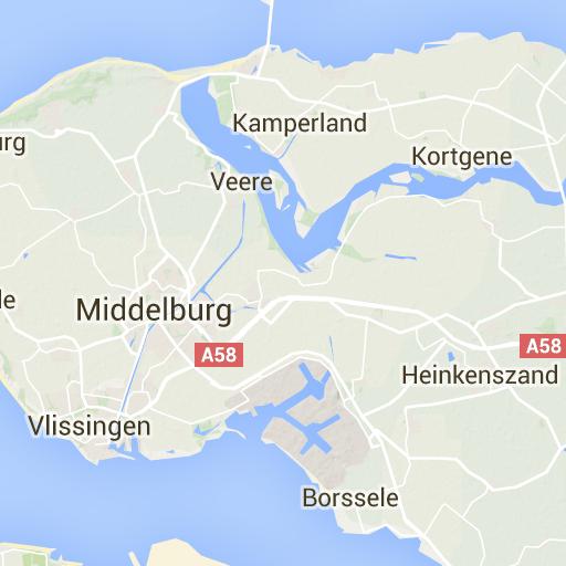 Umgebungskarte Strandhäuser Vrouwenpolder Zeeland