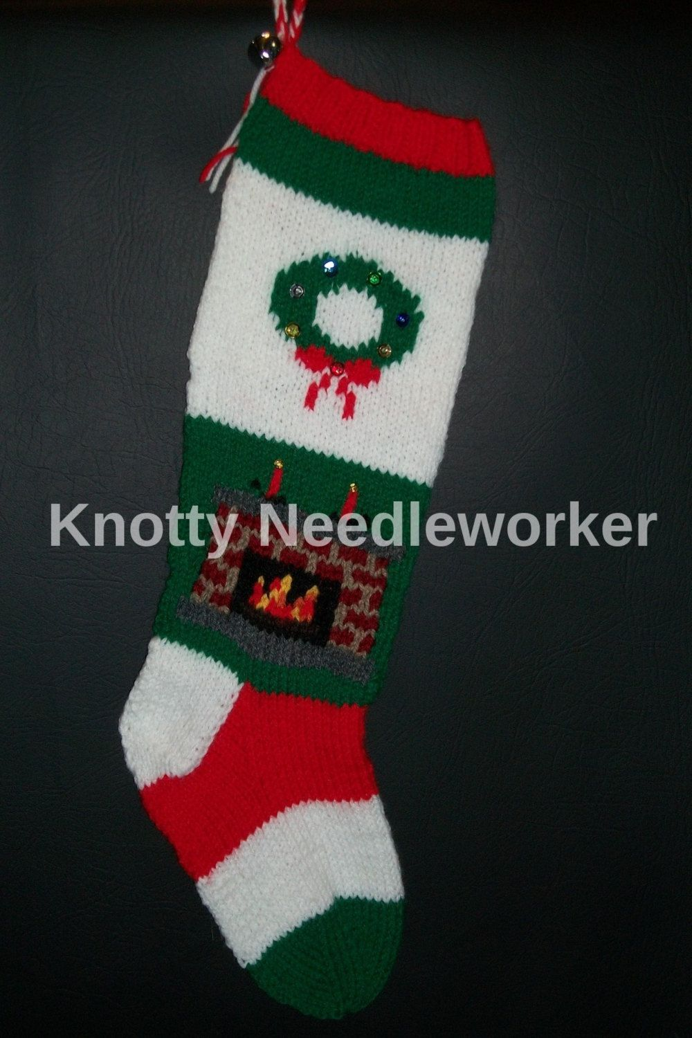 PRINTED PATTERN ONLY 2 in 1 Around the Fire Hand Knitted Christmas ...