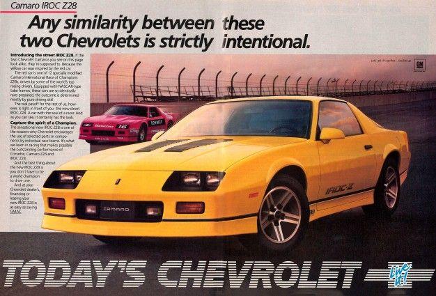"1986 Camaro IROC IROC N ROLL CAMARO Iroc Z Original Print Ad 8.5 x 10.5 /"""
