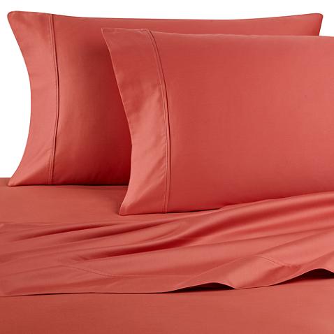 Wamsutta 400 Thread Count Sheet Set King Sheet Sets Wamsutta Orange Bed Sheets
