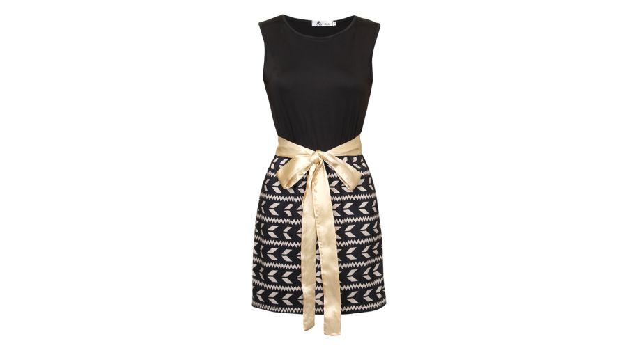 Fekete ruha arany színű masnival a Női ruhák kategóriában  2b900afb67