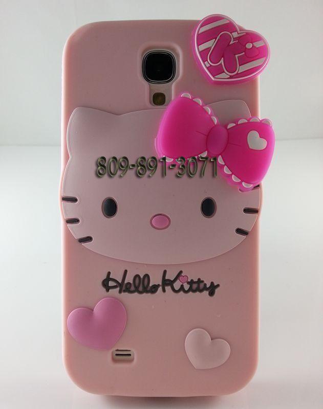 0293cc93c30 2013 Pink Hello Kitty Funda de Silicona para Samsung i9500 Galaxy S4 $  1099.00