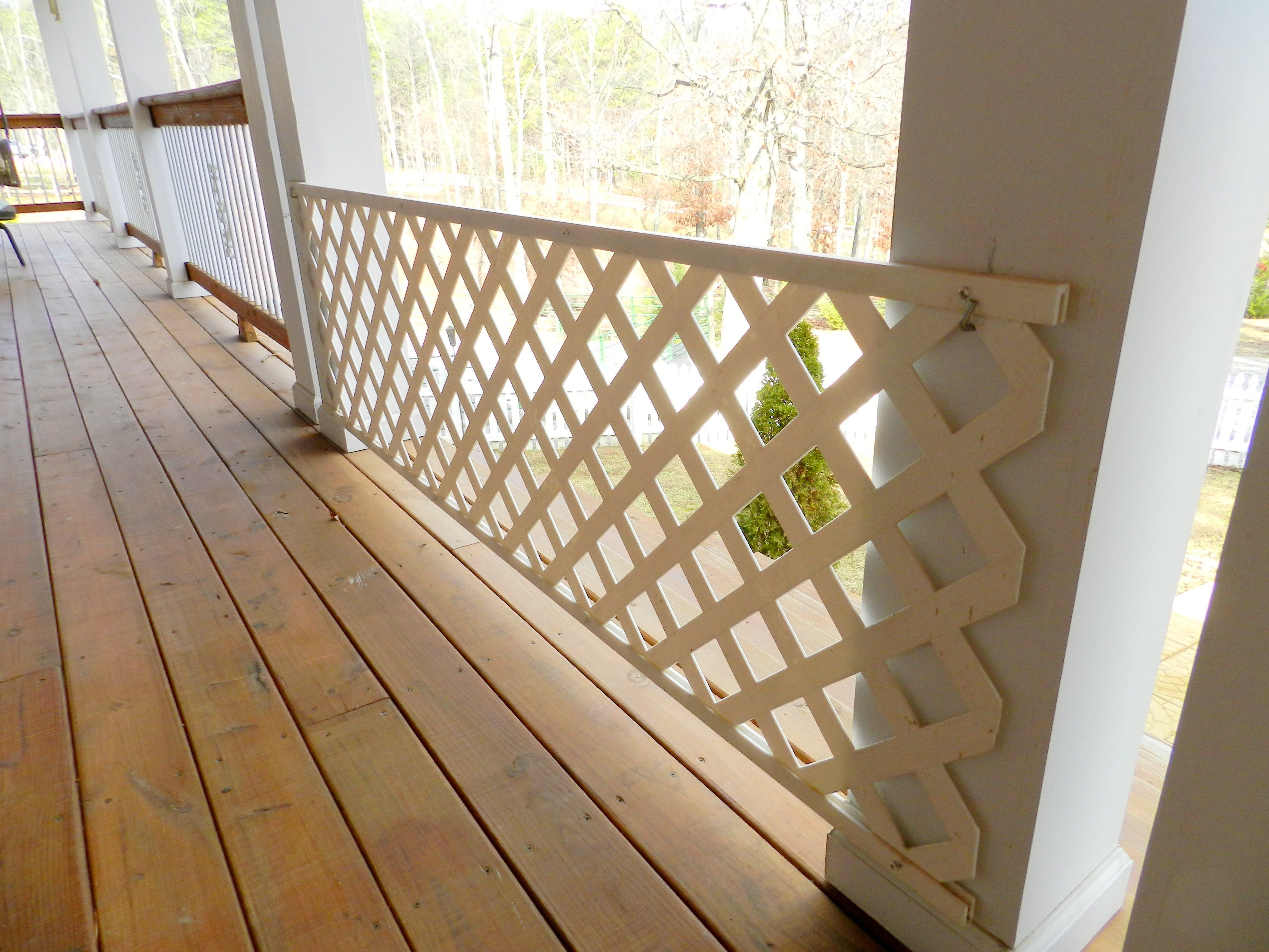 Dog Gate Lattice And Hooks To Hang It Scooby Pinte
