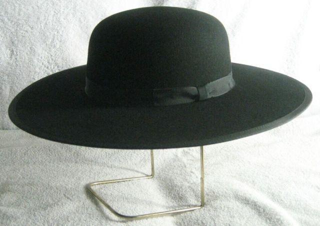 af6e031e3cefc Parson Pastor Padre Amish Priest Galero Minister Quaker Hat - Wool or Fur  Felt
