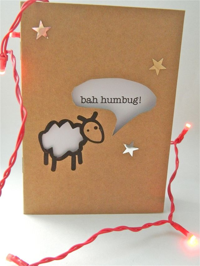 Quirky random cute Funny Christmas Card £1.80 | Cards | Pinterest ...
